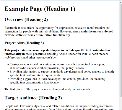 Element Level Customization Tader Project On Text Adaptability